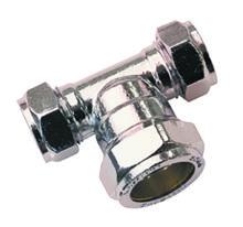 Reducing Tee Chrome Plated Brass