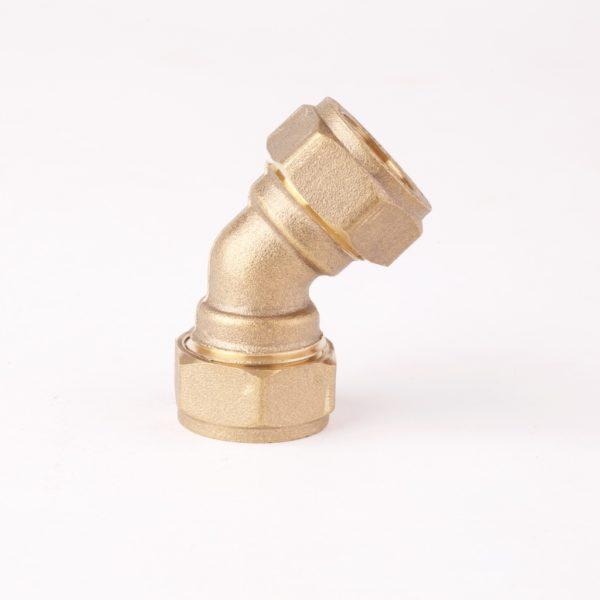 45 Degree Elbow Compression Brass