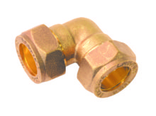 90 Elbow Compression Brass