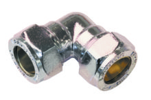 90 Elbow Compression Chrome Plated Brass