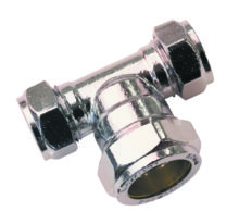 Equal Tee Chrome Plated Brass