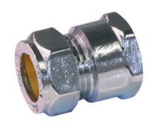 Female Coupling Chrome Plated Brass