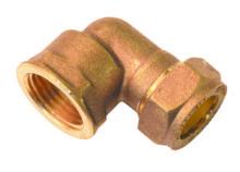 Female Elbow Compression Brass