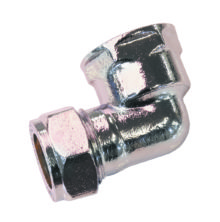 Female Elbow Compression Chrome Plated Brass
