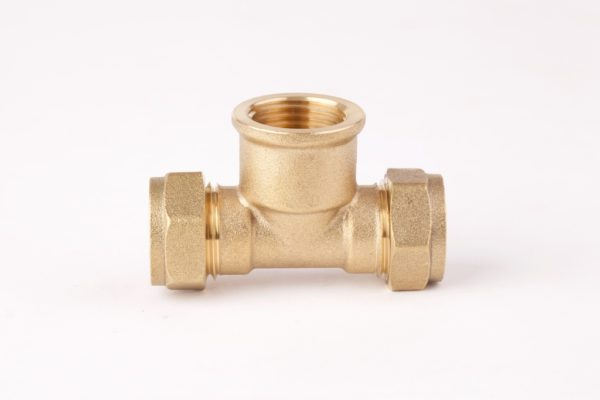 Female Tee Brass