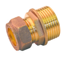 Male Coupling Brass
