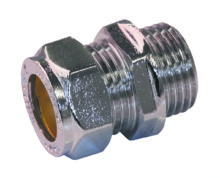 Male Coupling Chrome Plated Brass