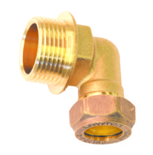 Male Elbow Compression Brass