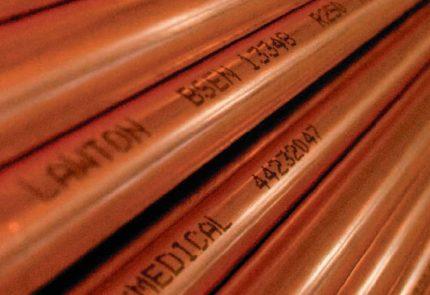 Lawton Tubes Tuyau en cuivre de gaz médical