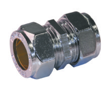 Straight Coupling Chrome
