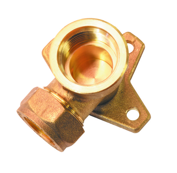 Wallplate Elbow Compression Brass