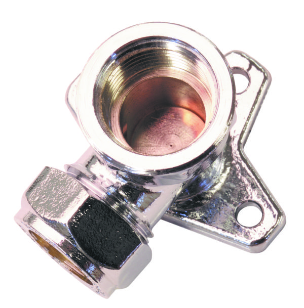 Wallplate Elbow Compression Chrome Plated Brass