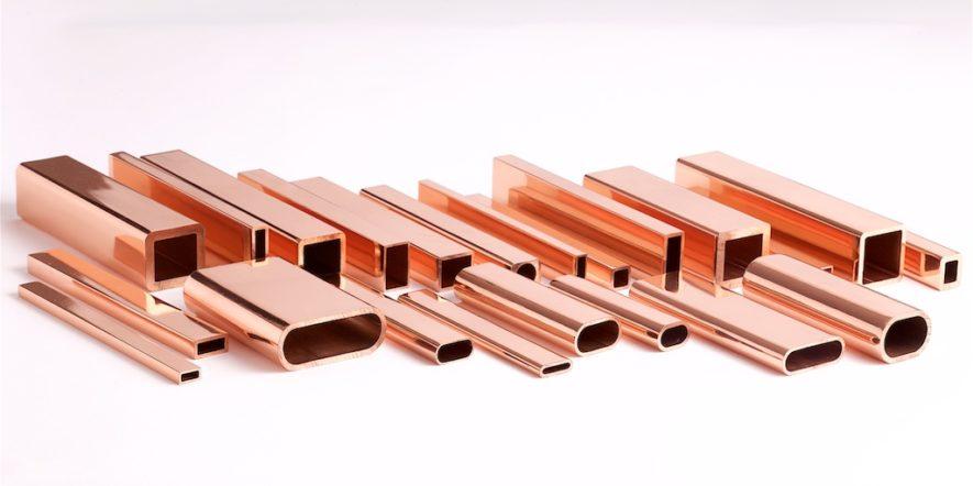 Extrusões de cobre