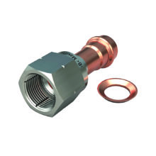 Complex flare with nut and copper washer